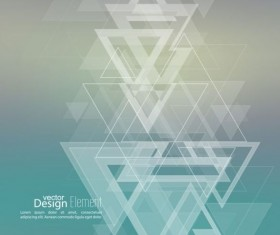 Abstract triangle with blurred background vector 01