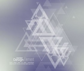 Abstract triangle with blurred background vector 02