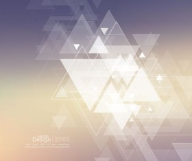 Abstract triangle with blurred background vector 03
