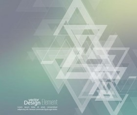 Abstract triangle with blurred background vector 04