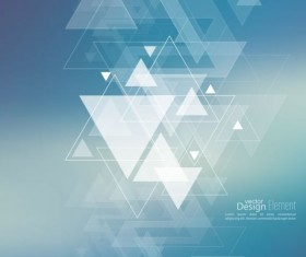 Abstract triangle with blurred background vector 06