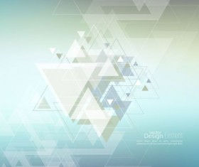 Abstract triangle with blurred background vector 07