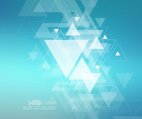 Abstract triangle with blurred background vector 08