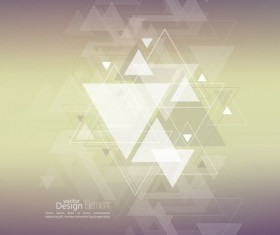 Abstract triangle with blurred background vector 12