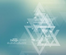 Abstract triangle with blurred background vector 13