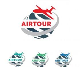 Air tour detail logo design vector