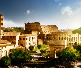 Ancient Roman ruins Stock Photo 01