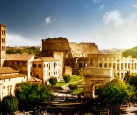 Ancient Roman ruins Stock Photo 01