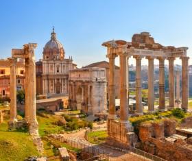 Ancient Roman ruins Stock Photo 02