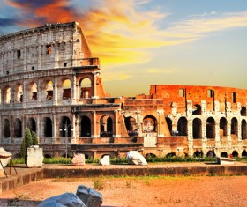 Ancient Roman ruins Stock Photo 04