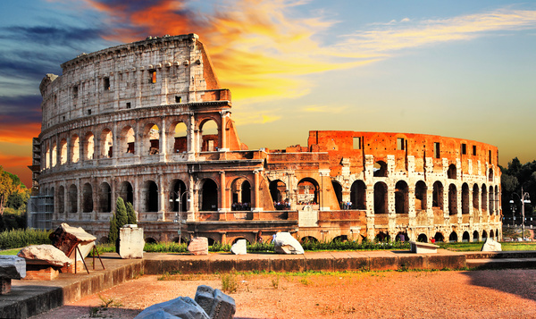 Ancient Roman ruins Stock Photo 04