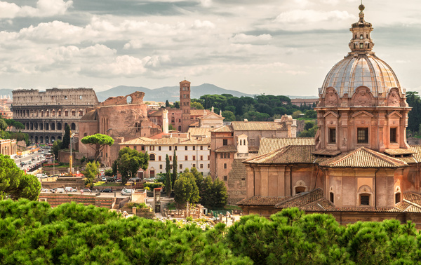 Ancient Roman ruins Stock Photo 05