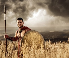 Armed with shields and spears Spartans HD picture 05