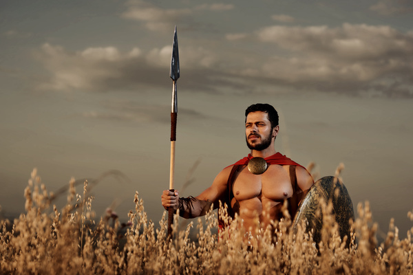 Armed with shields and spears Spartans HD picture 06