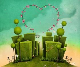 Art background Spring Stock Photo 06