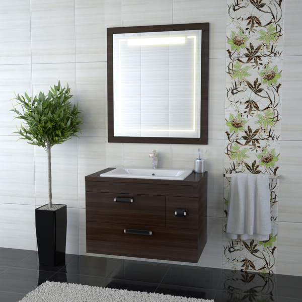 bathroom cabinet towel rack with mirror stock photo interiors stock