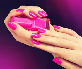Beautiful pink nail HD picture 01
