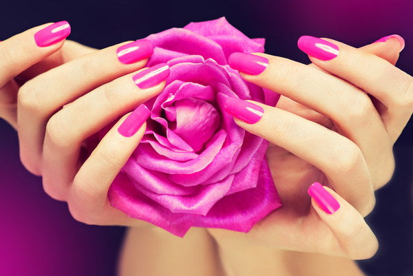 Beautiful pink nail HD picture 02