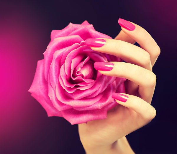 Beautiful pink nail HD picture 03