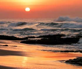 Beautiful sunset sea view HD picture 06
