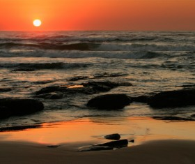 Beautiful sunset sea view HD picture 07