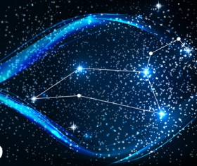 Beautiful zodiac background vector material 07