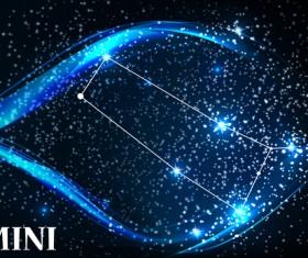 Beautiful zodiac background vector material 08