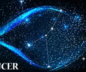 Beautiful zodiac background vector material 09