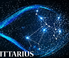Beautiful zodiac background vector material 10