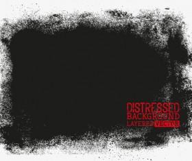 Black grunge background layered vector 01