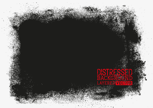 Black grunge background layered vector 01