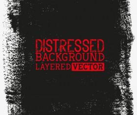 Black grunge background layered vector 02