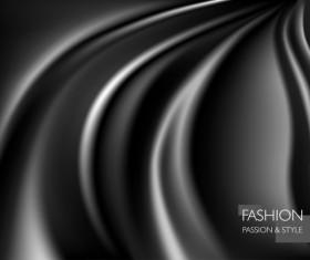 Black smooth silk background vector