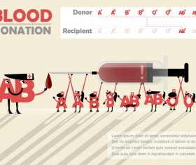 Blood donation infographic vector material 01