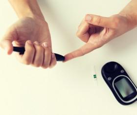 Blood test blood sugar Stock Photo
