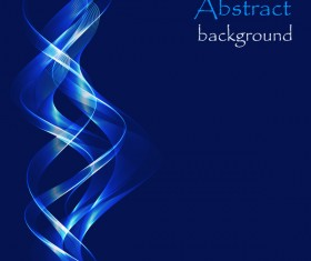 Blue abstract wavy with blue background vector
