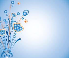 Blue and elegant floral background Stock Photo