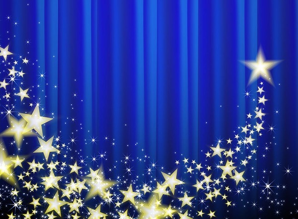 Blue Curtains With Stars Vector Background Vector Background Free Download