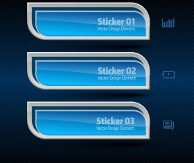 Blue curves banners vector