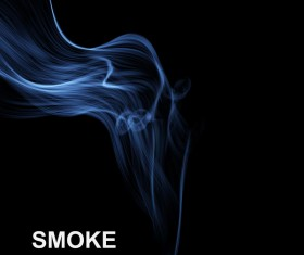 Blue smoke abstract background vector 01