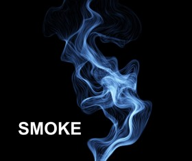Blue smoke abstract background vector 04