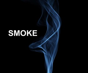 Blue smoke abstract background vector 05