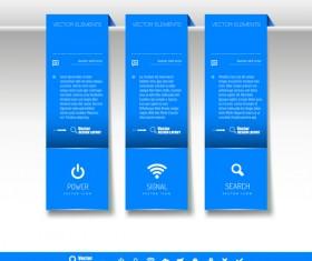 Blue tabs hanging banner vector