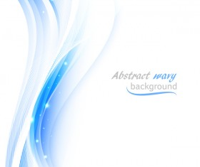 Blue wavy lines abstract background vector 01