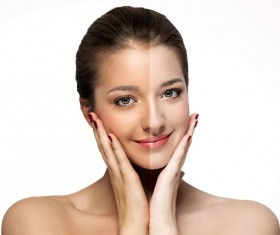 Brighten the complexion makeup beauty Stock Photo