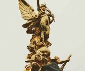 Buckingham Palace victory goddess sculpture Stock Photo