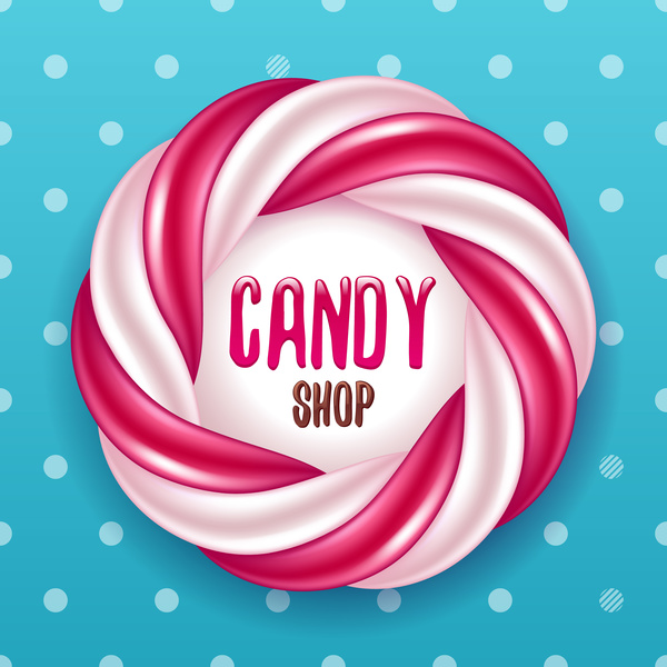 candy shop background design vector vector background