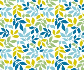 Cartoon leaf seamless pattern vector