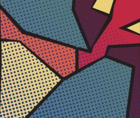Cartoon pop-art backgrounds vectors 03