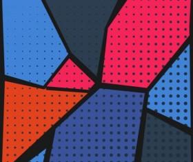 Cartoon pop-art backgrounds vectors 04